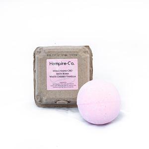 White Cherry Vanilla 100mg Bath Bomb